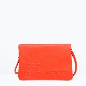"Zara l ""Life is a Party"" Clutch"